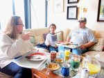 """Many """"Coley Barham"""" breakfasts shared as the sofa doubled for a dining table!"""