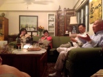 Close friends Fontiena Ho, Pauline and Patrick Ho, and DR. Peter Tong spend our last Turkey Day with us