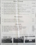 Brasserie du Paris Menu 1